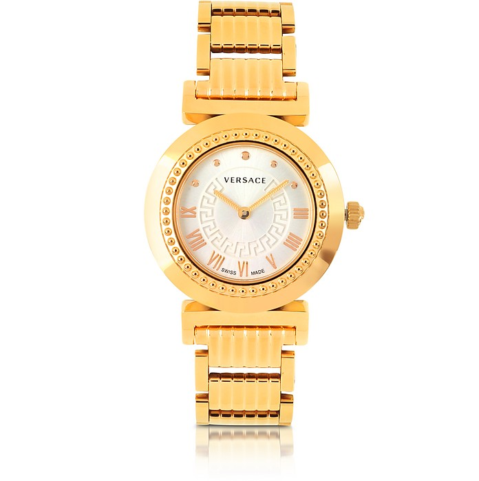 Vanity Lady Rose Gold Stainless Steel Women's Watch - Versace