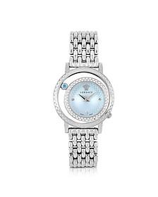 Venus Stainless Steel w/Light Blue Dial Women's Watch