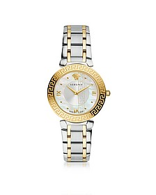Daphnis Two-Tone Stainless Steel Women's Watch w/Greek Engraving - Versace