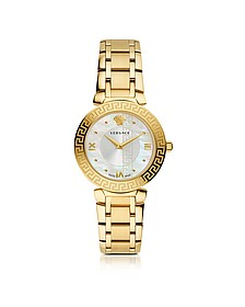 Daphnis PVD Gold Plated Women's Watch w/Greca Engraving - Versace