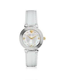 Daphnis White Women's Watch w/Greek Engraving - Versace