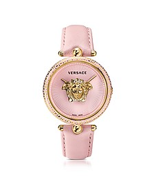 Palazzo Empire Pink and PVD Plated Gold Women's Watch w/3D Medusa - Versace