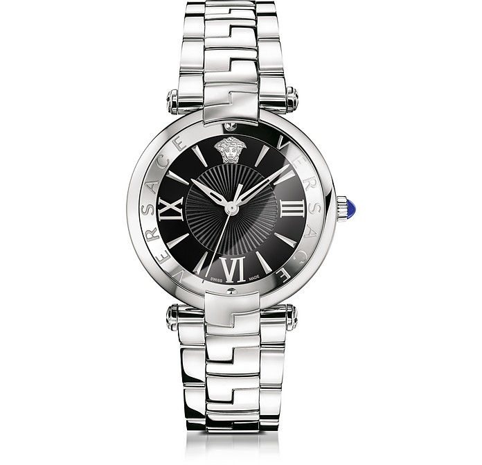 Revive 3H Stainless Steel Women's Watch w/Black Dial - Versace