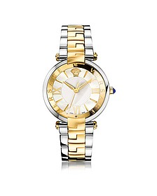 Revive 3H Stainless Steel and PVD Gold Plated Women's Watch w/White Mother of Pearl Dial - Versace