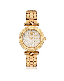 Micro Vanitas PVD Gold Plated Women's Watch w/Baroque White Dial - Versace
