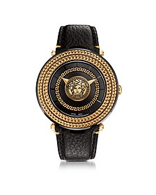 V-Metal Icon Black and Rose Gold Unisex Watch w/Medusa Medal - Versace