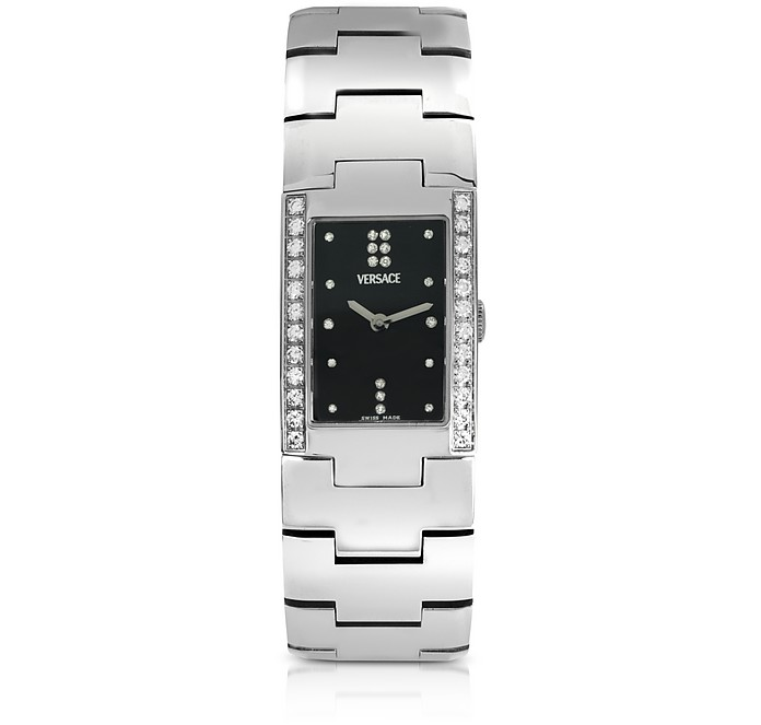 Greca - Ladies' Stainless Steel and Diamond Watch - Versace