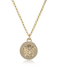Light Gold Metal Medusa Pendant Necklace - Versace