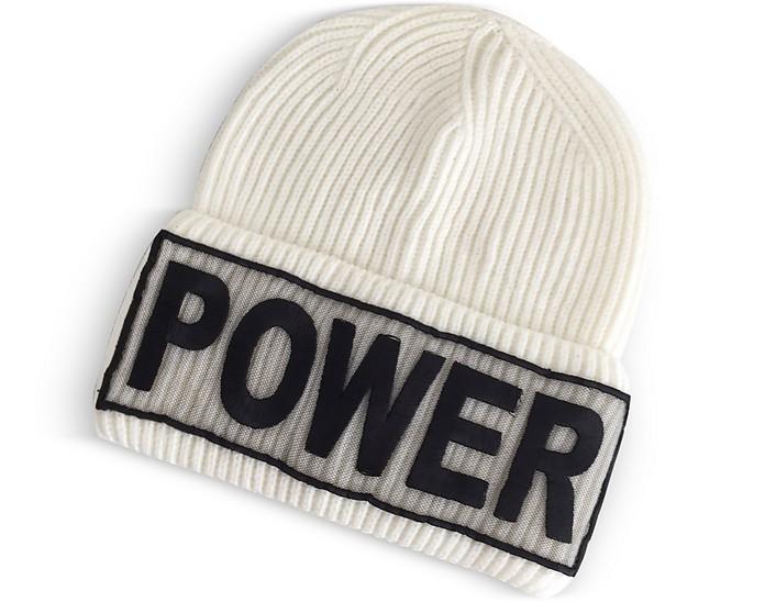 Power Manifesto White Wool Knit Hat - Versace / ヴェルサーチ