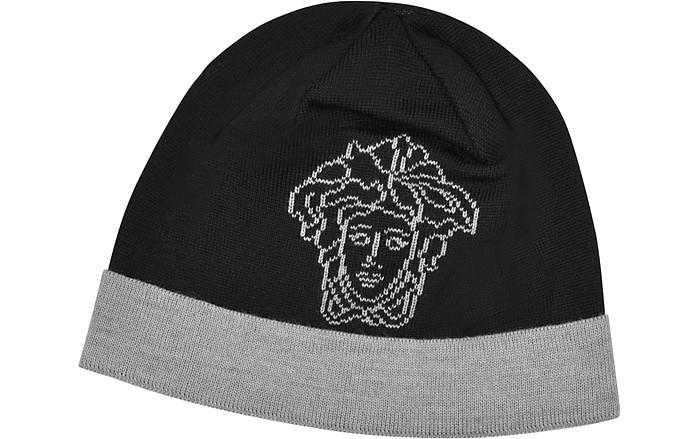 Versace Medusa Logo Wool Skull Cap at FORZIERI 71ed4c34d7d