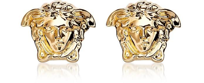 bons plans 2017 soldes 100% authentique Boucles d'Oreilles Logo Medusa en Laiton Or