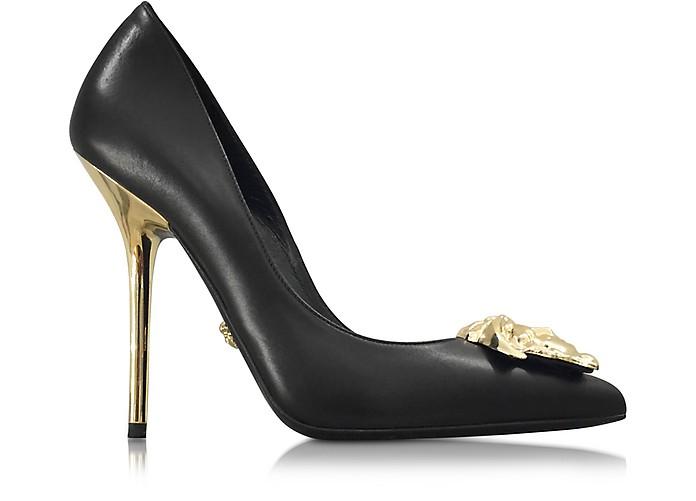 Palazzo Stiletto Heel Pumps - Versace