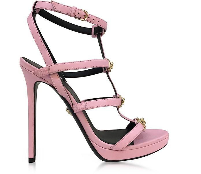 ff05d1a0319 Pink Leather Sandal w/Light Gold Medusa