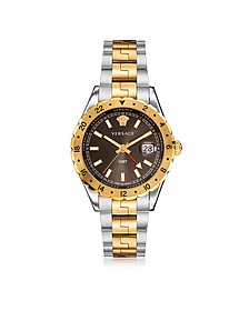 Hellenyium GMT Stainless Steel Men's Watch w/Greek Inserts - Versace