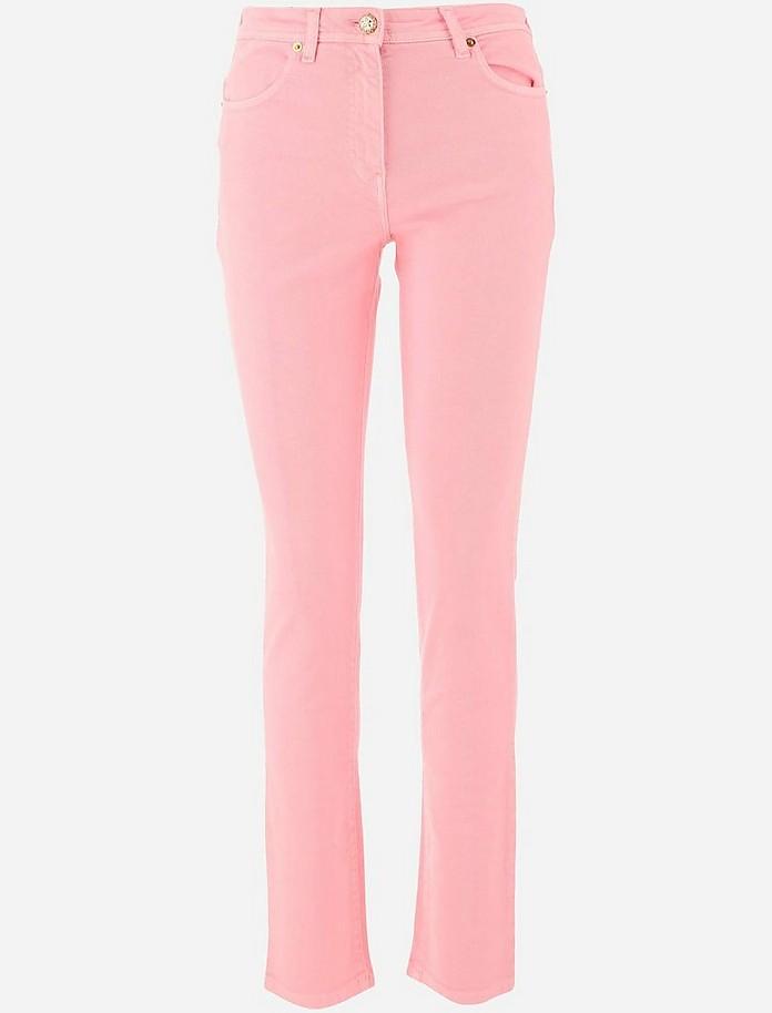 Pastel Pink Women's Skinny Jeans - Versace