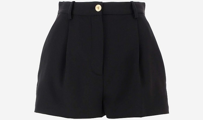 Black Wool Women's Shorts - Versace