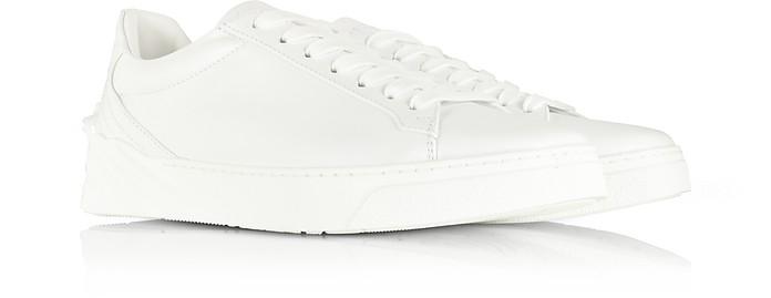 9bbbf1ec05 Versace White Medusa Heel Leather Men's Sneakers 39 (6 US | 5 UK ...