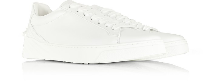beebd38f56 Versace White Medusa Heel Leather Men's Sneakers 39 (6 US | 5 UK ...