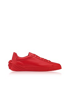 Geranium Medusa Heel Leather Men's Sneakers - Versace