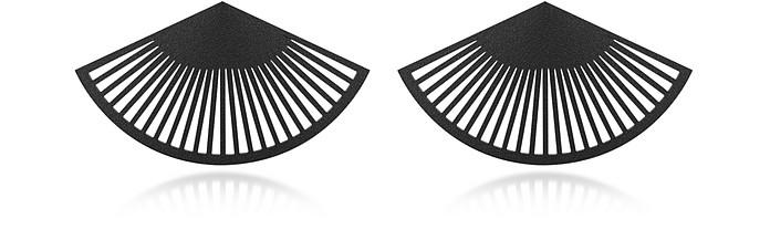 VOJD STUDIOS Phase Black Fan Earrings