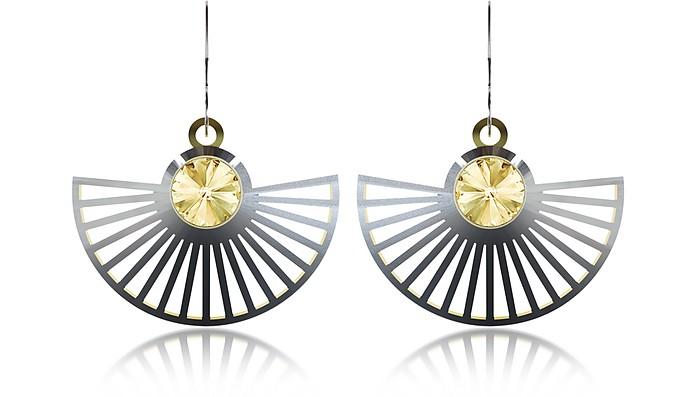 VOJD STUDIOS Phase Precious Sterling Silver Fan Dangle Earrings