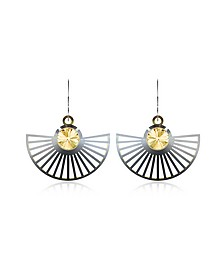 Phase Precious Sterling Silver Fan Dangle Earrings  - Vojd Studios