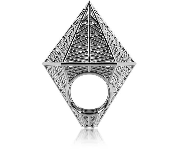 Umbala hexagonaler Ring aus Sterlingsilber - Vojd Studios