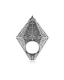 Umbala Hexagonal Sterling Silver Ring