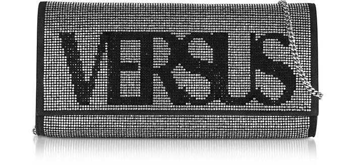 Signature Crystals and Suede Clutch - Versace Versus