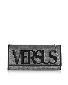 Vintage Logo Envelope Crystals and Suede Clutch