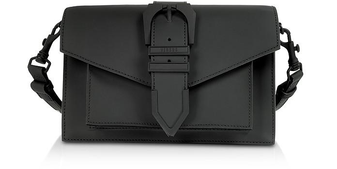 Черная Сумка на Плечо из Кожи Gommato - Versace Versus