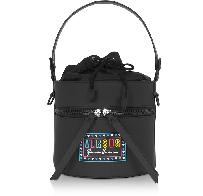 Gommato Leather and Nylon Shoulder Bag - Versace Versus