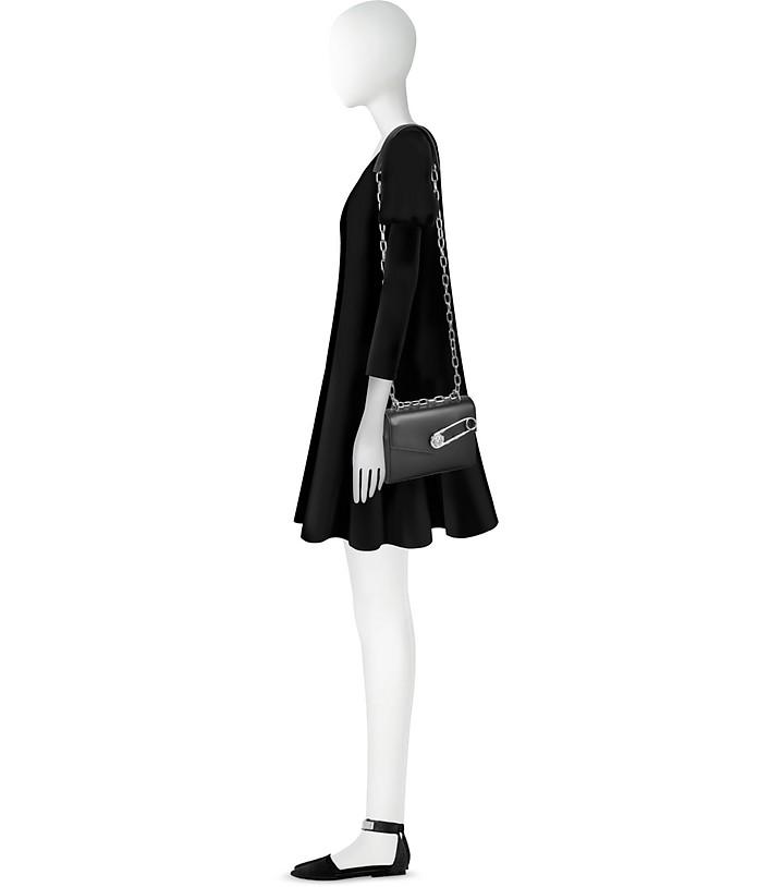 4fd6baf76fa0 Black Leather Shoulder Bag w Safety Pin - Versace Versus.  259.50  519.00  Actual transaction amount