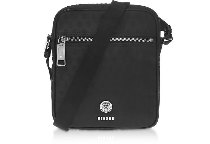 Black Signature Nylon Crossbody Bag - Versace Versus