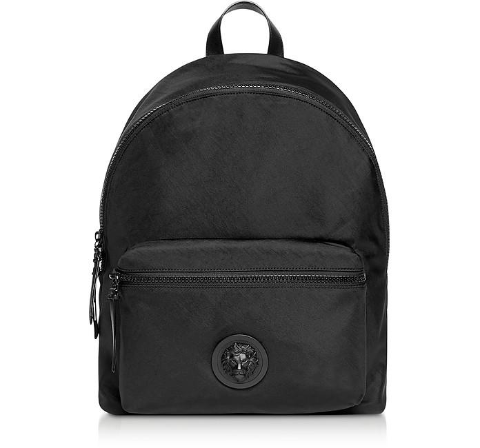 Black Washed Nylon Backpack - Versace Versus