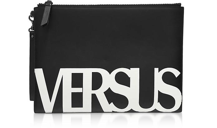Black Coated Canvas Pouch - Versace Versus