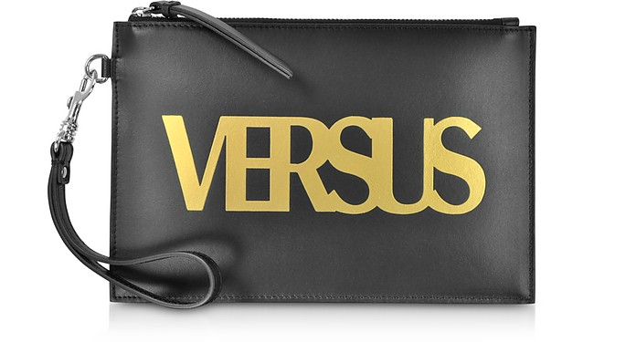 Black Leather Versus Pouch - Versace Versus