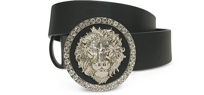 Crystal Lion Buckle Women's Belt - Versace Versus