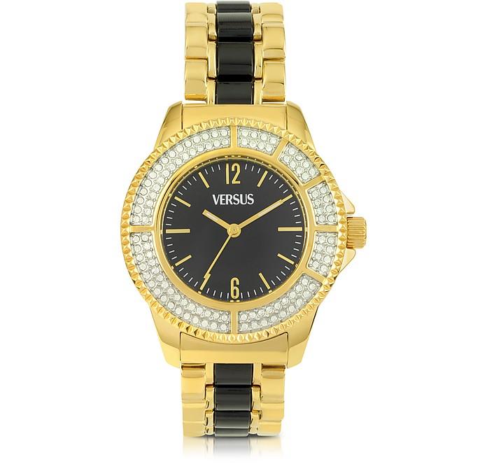 Tokyo Crystal 38 Gold and Black Women's Watch - Versace Versus