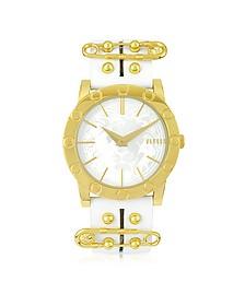 Miami Goldtone Women's Watch w/Leather Strap