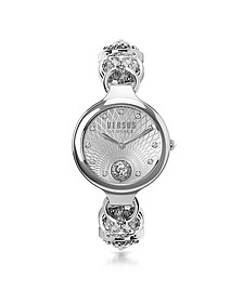 Broadwood Silver Stainless Steel Women's Bracelet Watch w/Crystals - Versace Versus