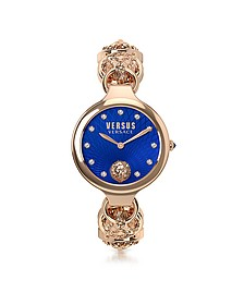 Broadwood Rose Gold Tone Stainless Steel Women's Bracelet Watch w/Blue Dial and Crystals - Versace Versus