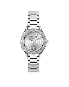 Canton Road Silver Stainless Steel Women's Bracelet Watch w/Crystals - Versace Versus