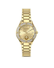 Canton Road Gold Tone Stainless Steel Women's Bracelet Watch w/Crystals - Versace Versus
