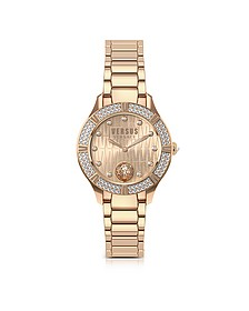 Canton Road Rose Gold Tone Stainless Steel Women's Bracelet Watch w/Crystals - Versace Versus