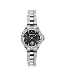 South Horizons Crystal Stainless Steel Women's Bracelet Watch w/Black Dial - Versace Versus