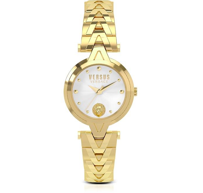 V Versus Gold Tone Stainless Steel Women's Bracelet Watch - Versace Versus