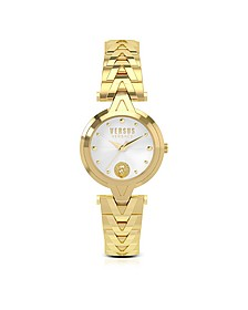 V Versus Gold Tone Stainless Steel Women's Bracelet Watch - Versace Versus