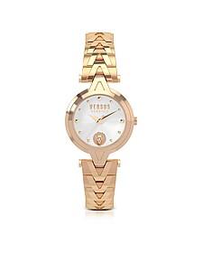 V Versus Damenuhr aus Edelstahl in rosegold und Armband mit Logo - Versace Versus