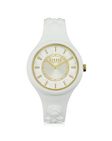 Fire Island Silicon and Gold Tone Stainless Steel Women's Watch - Versace Versus